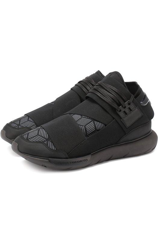 Комбинированные кроссовки Quasa эластичными лентами Y-3 S82123