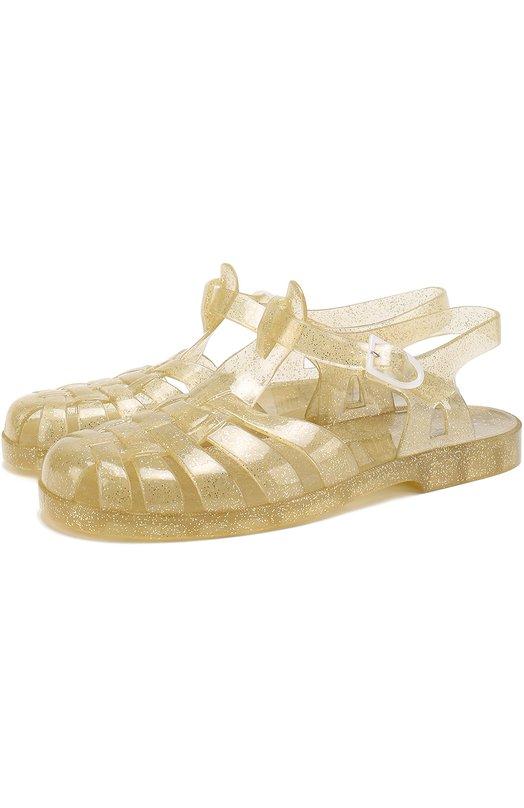 Резиновые сандалии с глиттером Marc Jacobs W19063/36-39