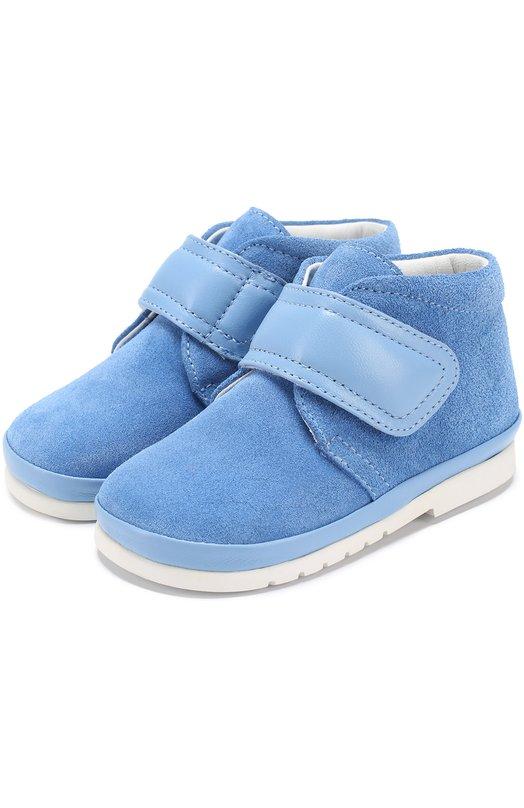 Замшевые ботинки с застежкой велькро Gallucci 767/VEL/NAP