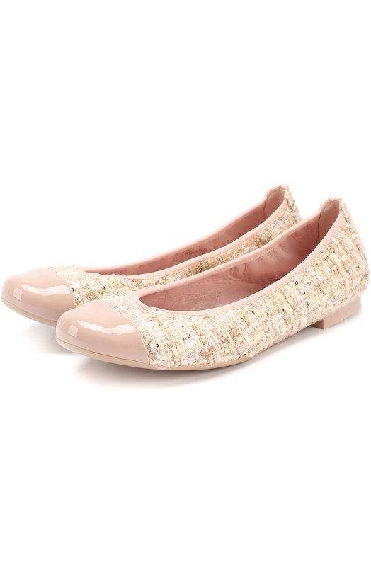 Комбинированные балетки с лаковой отделкой Pretty Ballerinas 40.687/H0NEY R0SE