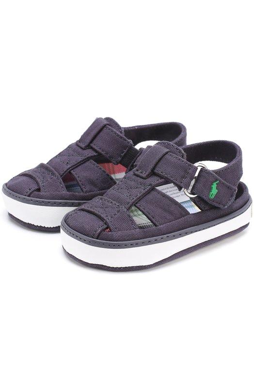 Текстильные сандалии с застежкой велькро Polo Ralph Lauren SANDER FISHERMAN L