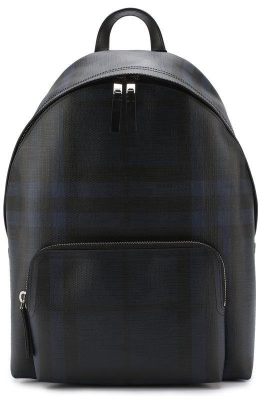 Рюкзак в клетку London Check с отделкой из натуральной кожи Burberry 4031566