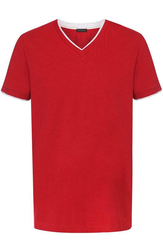 Хлопковая футболка с V-образным вырезом Baldessarini 47284/5210