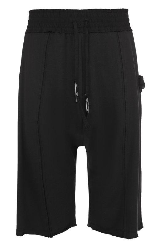 Хлопковые шорты свободного кроя с заниженной линией шага Damir Doma BS1M0021/J1511