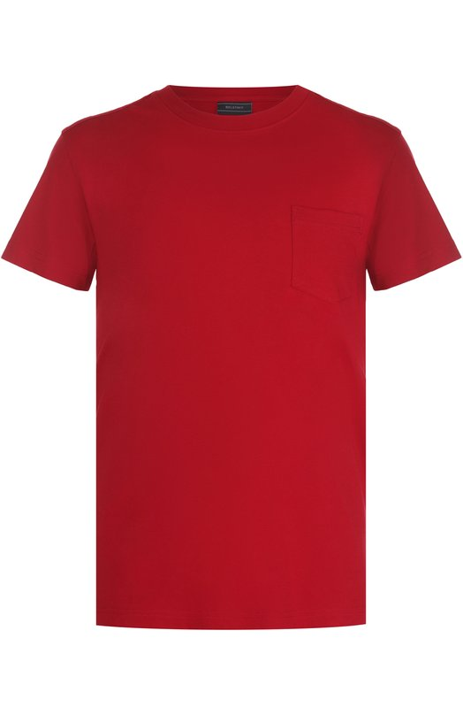 Хлопковая футболка с круглым вырезом Belstaff 71140178/J61A0067