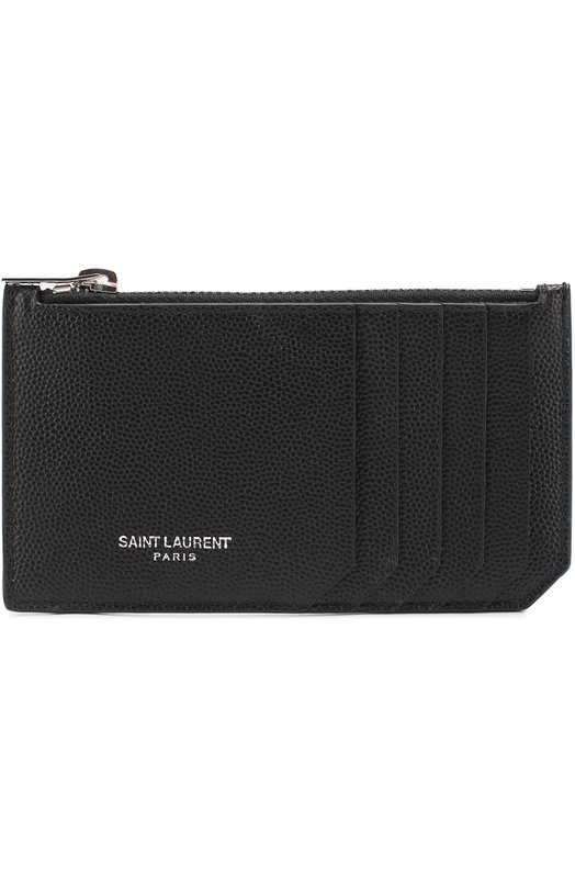 Кожаный футляр для кредитных карт с отделением для монет Saint Laurent 458589/BTY0N
