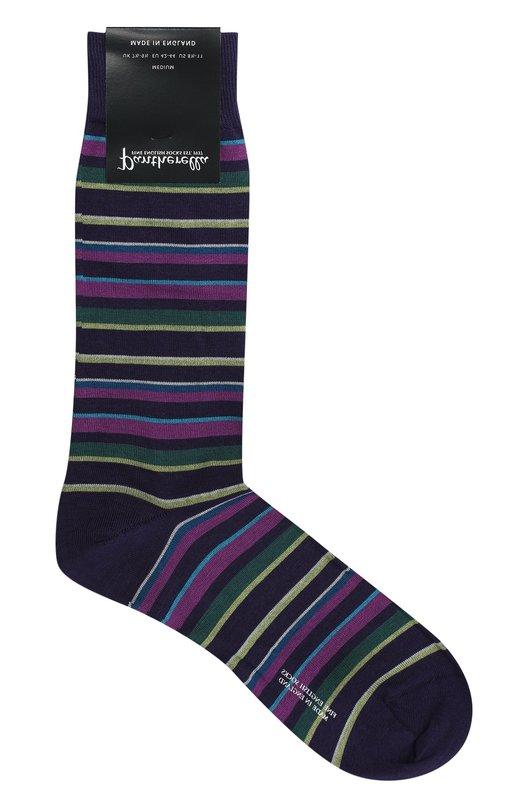Хлопковые носки в полоску Pantherella 535396