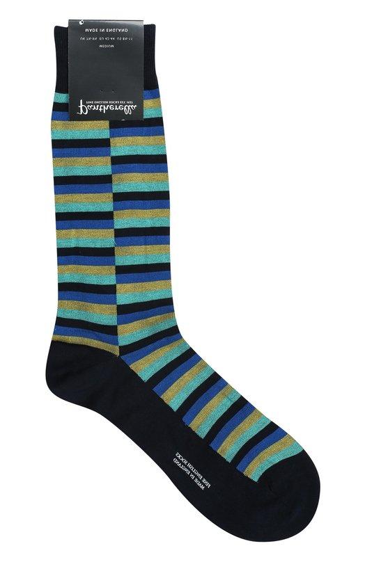 Хлопковые носки в полоску Pantherella 53606