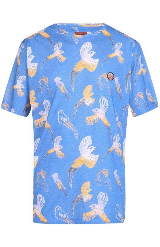 Хлопковая футболка свободного кроя с принтом Missoni E17/MU/534120