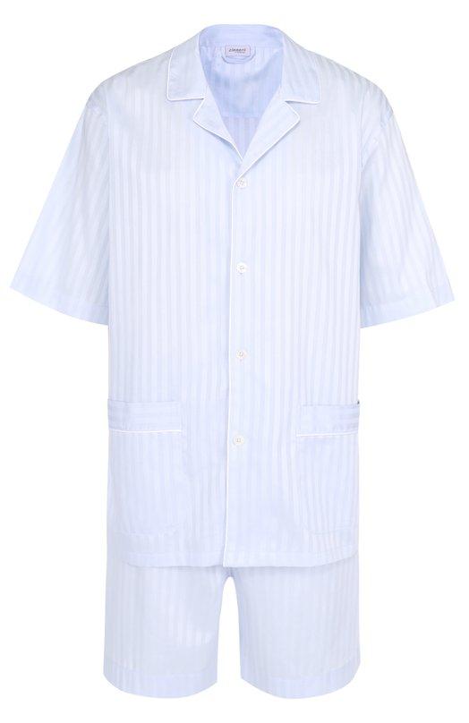 Хлопковая пижама с шортами Zimmerli 4682/75030