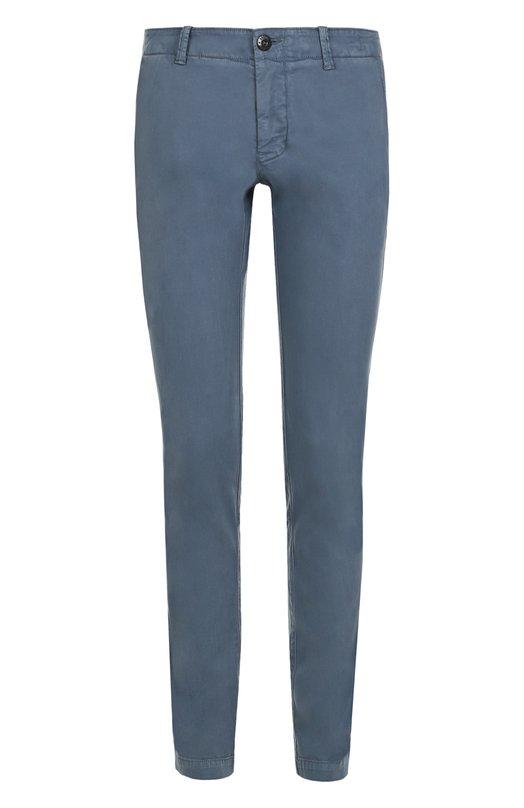 Хлопковые брюки прямого кроя Stone Island 66153CZ04