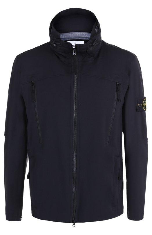 Куртка на молнии с потайным капюшоном Stone Island 661541826