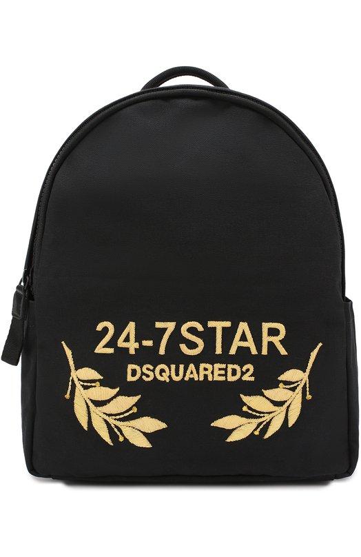 Текстильный рюкзак с отделкой из натуральной кожи Dsquared2 S17BP4079/003