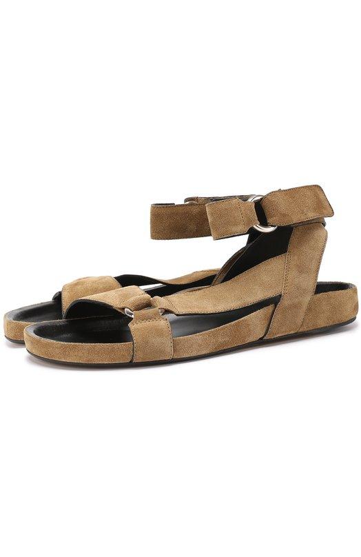 Замшевые сандалии с ремешком на щиколотке Isabel Marant Etoile SD0157-17P018S/L0ATIS