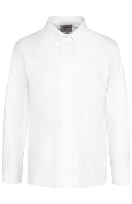 Хлопковая блуза свободного кроя с укороченным рукавом Armani Collezioni VMC25T/VM330