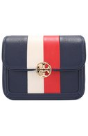 Сумка Duet Chain Stripe micro Tory Burch синяя | Фото №1