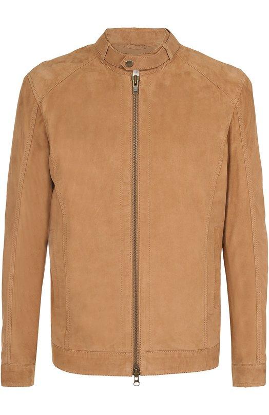Замшевая куртка на молнии с воротником-стойкой Sand 7320/MARKUS