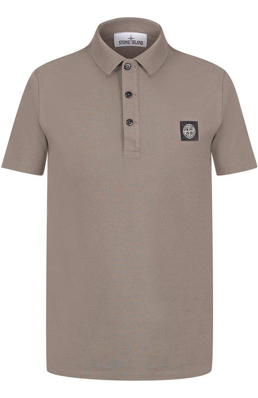 Хлопковое поло с логотипом бренда Stone Island 661520418