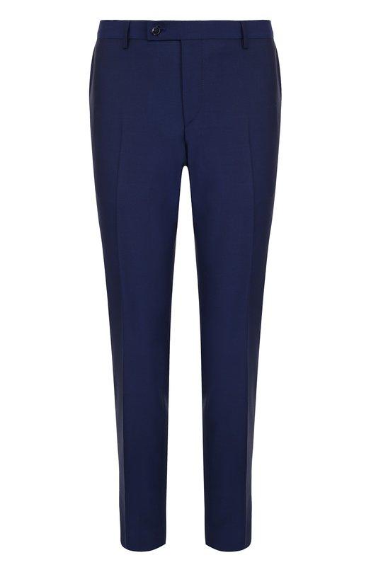 Купить Шерстяные брюки прямого кроя Sand, M0HAIR/CRAIG, Португалия, Синий, Шерсть: 84%; Подкладка-ацетат: 60%; Подкладка-вискоза: 40%; Мохер: 16%;