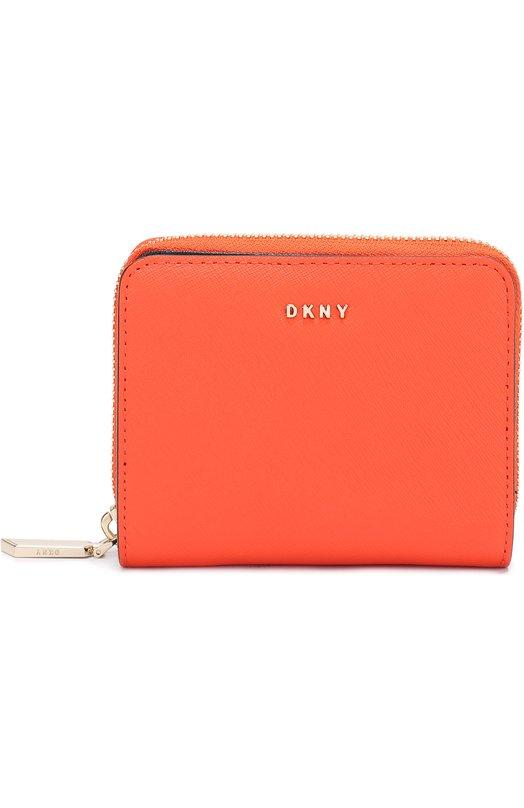 Кожаное портмоне на молнии DKNY R4350203