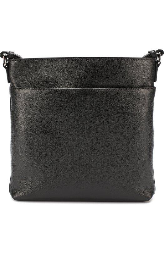 Кожаная сумка-планшет с внешним карманом на молнии Ermenegildo Zegna C1245XCBS