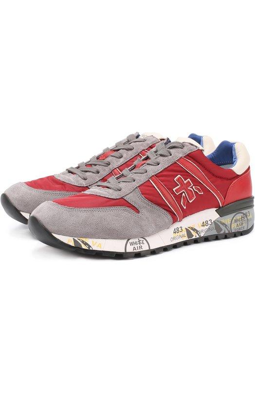 Комбинированные кроссовки на подошве с принтом Premiata LANDER/VAR2021
