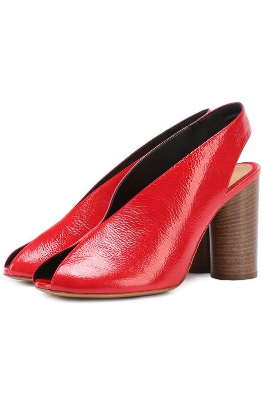 Босоножки из фактурной кожи на наборном каблуке Isabel Marant SD0163-17P029S/MEIRID