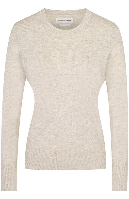 Хлопковый пуловер прямого кроя с круглым вырезом Isabel Marant Etoile PU0521-17P038E/KELT0N