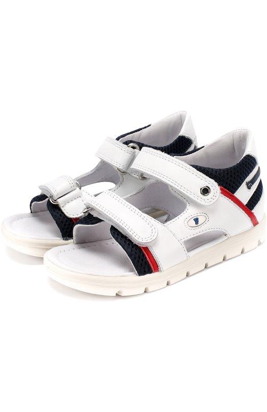 Комбинированные сандалии с застежками велькро Falcotto 0011500599/01