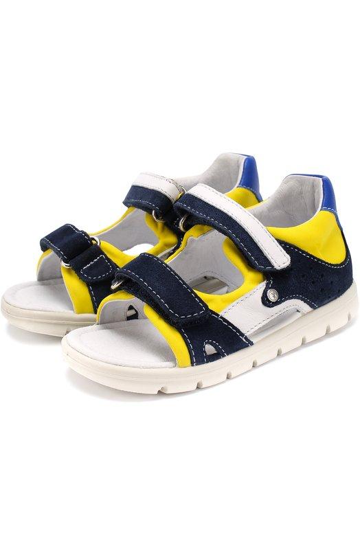Комбинированные сандалии с застежками велькро Falcotto 0011500605/01