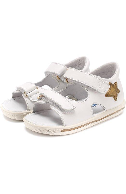 Кожаные сандалии с застежками велькро и аппликациями Falcotto 0011500611/01