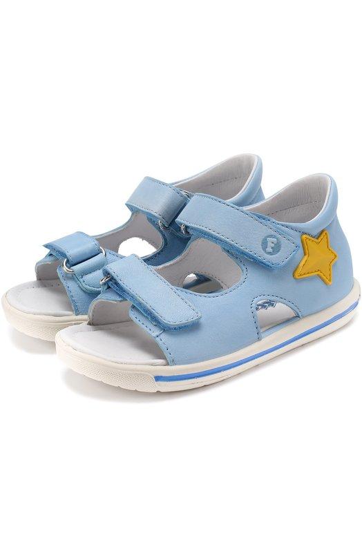 Кожаные сандалии с застежками велькро и аппликациями Falcotto 0011500611/02