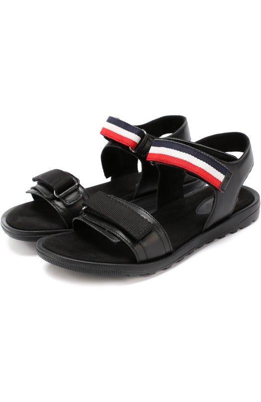Кожаные сандалии с застежками велькро Moncler Enfant C1-954-00428-00-015A6