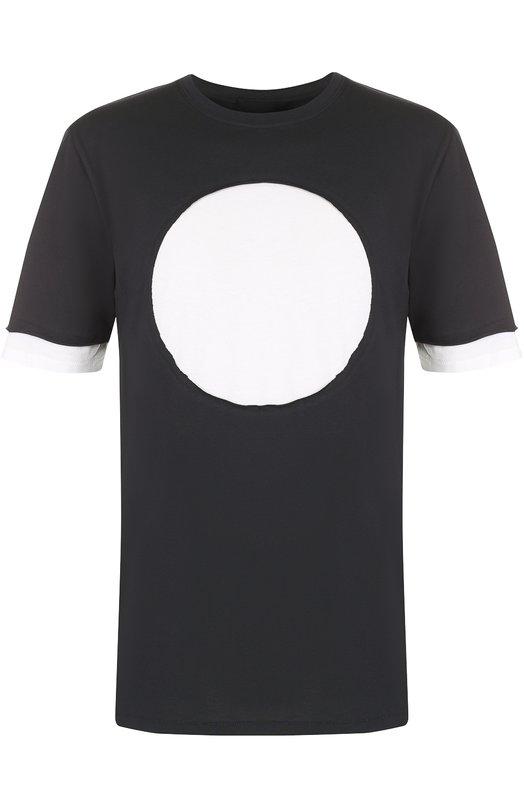 Хлопковая футболка с контрастной отделкой 3.1 Phillip Lim S173-17630CYM