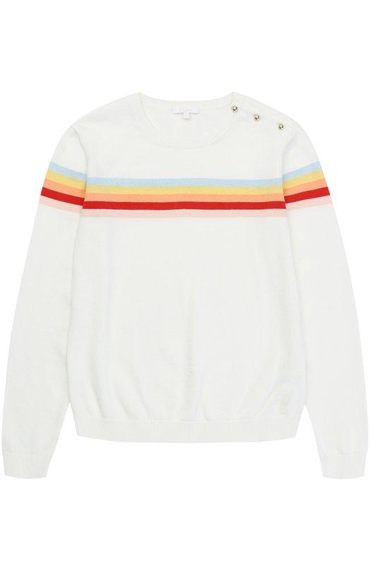 Пуловер джерси с принтом и пуговицами на плече Chlo C15094/6A-12A