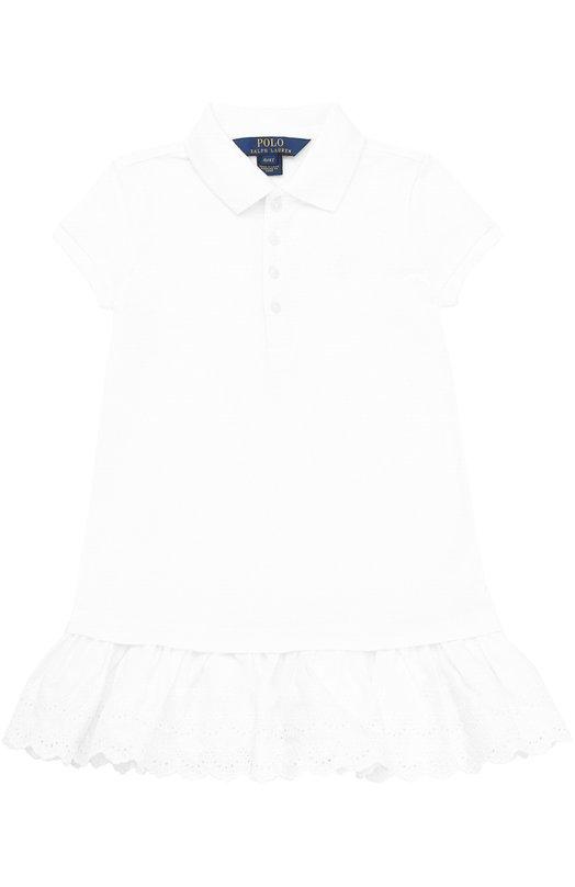 Платье джерси с оборкой Polo Ralph Lauren S14/XZAM2/XYAM2