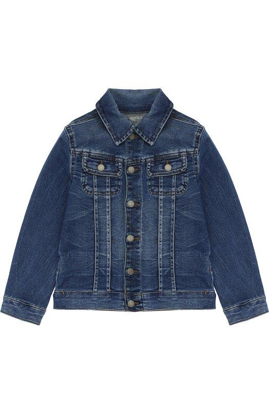 Куртка из денима с потертостями Polo Ralph Lauren H30/XZ6YT/XY6YT