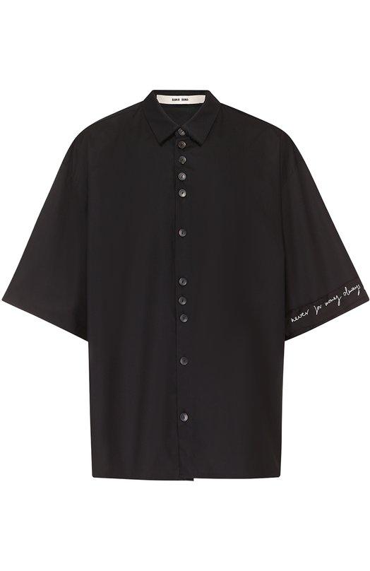 Хлопковая рубашка свободного кроя с декоративной отделкой Damir Doma BS1M0005/F1503