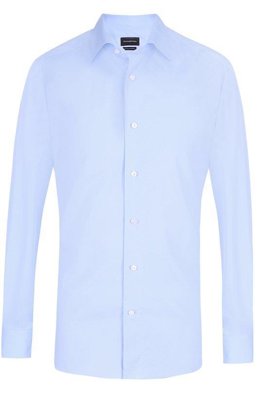 Хлопковая сорочка с воротником кент Ermenegildo Zegna 9010649MS0BR