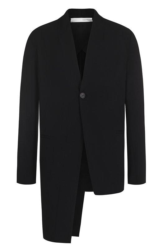 Пиджак асимметричного кроя из смеси вискозы и шерсти Isabel Benenato UW21S17