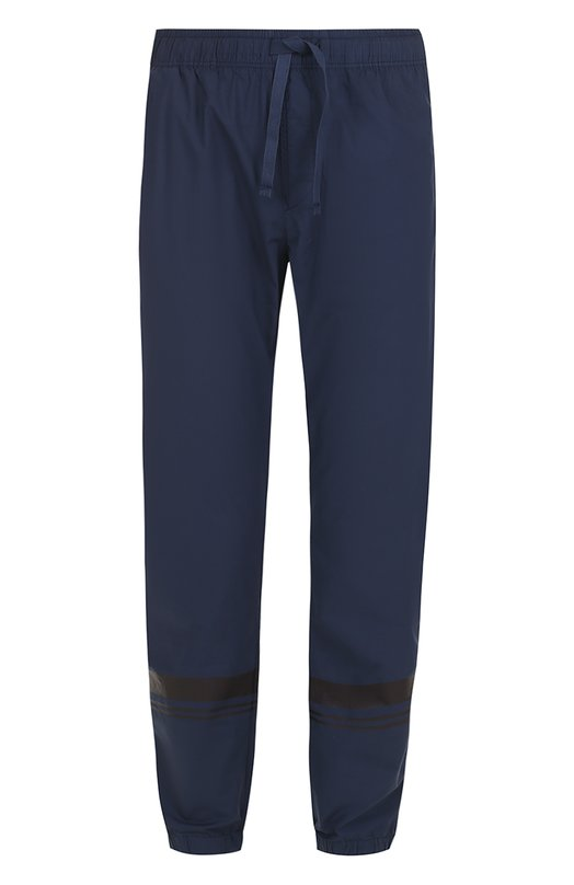 Хлопковые брюки свободного кроя с манжетами на резинке Stone Island 6615318XQ
