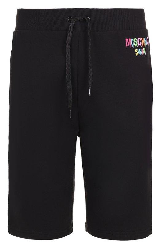 Хлопковые шорты свободного кроя Moschino A4203/2320