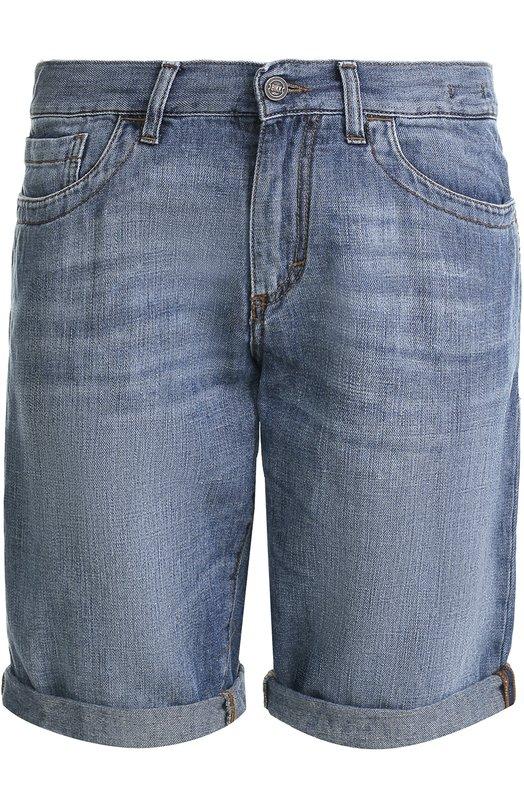 Джинсовые шорты из смеси хлопка и льна Dirk Bikkembergs C082BH0TB139