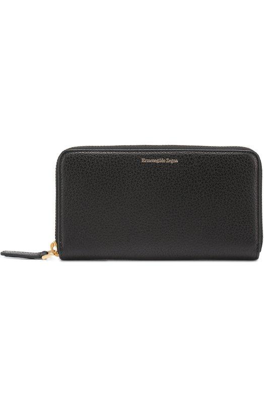 Кожаный бумажник на молнии с отделениями для кредитных карт и монет Ermenegildo Zegna C1162BB0A