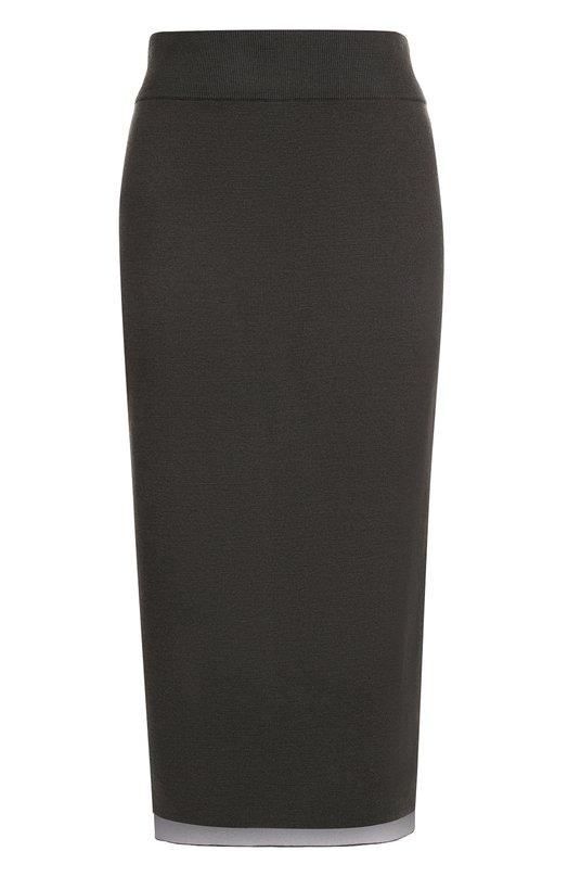 Вязаная юбка-миди асимметричного кроя DKNY P07179SA