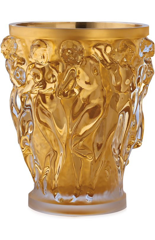 Ваза Bacchantes XXL с позолотой Lalique 10547000