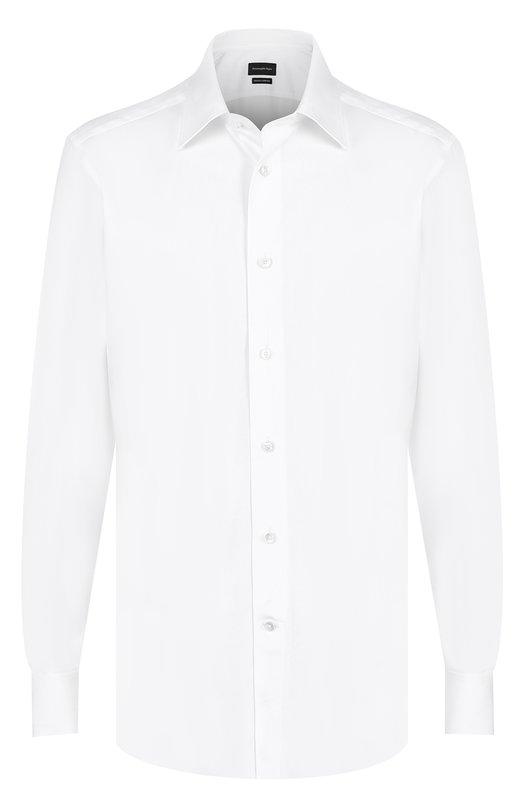 Хлопковая сорочка с итальянским воротником Ermenegildo Zegna 9010639MS4PA