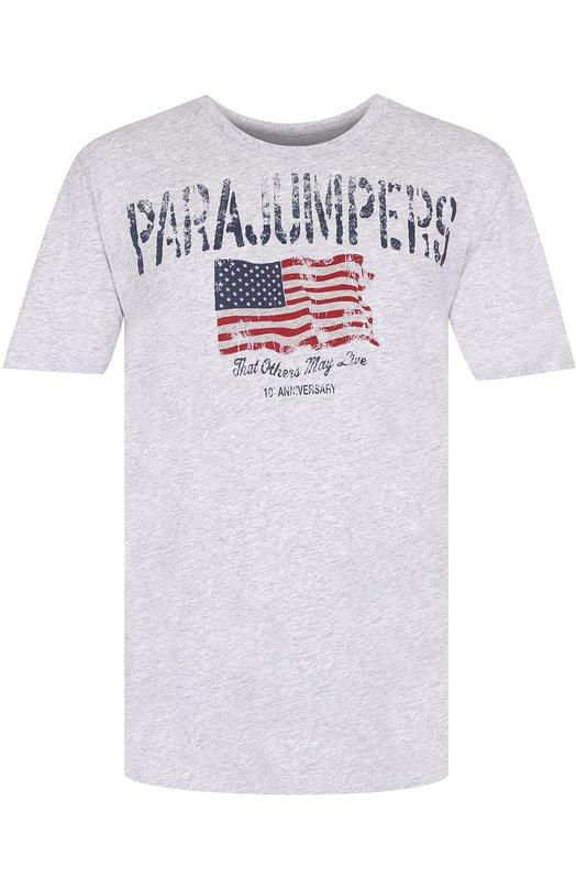 Хлопковая футболка с принтом Parajumpers TS06/PASC0-MAN