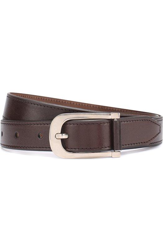 Купить Кожаный ремень с металлической пряжкой Tom Ford, TB198Q/C37, Италия, Темно-коричневый, Кожа натуральная: 100%; Пряжка-мет.сплав: 100%;