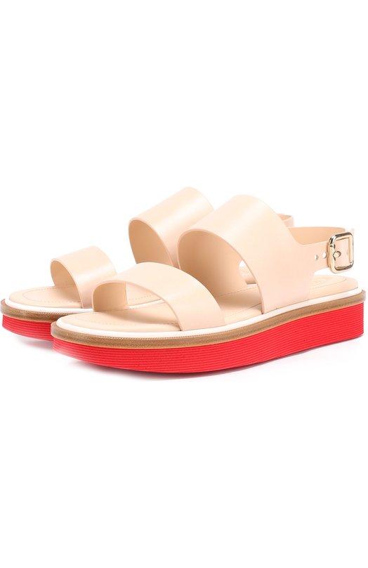 Кожаные сандалии на контрастной подошве Tod's XXW23A0S920A0F